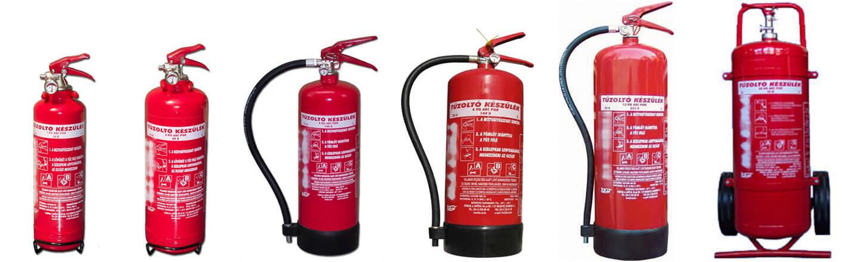 Rendelhető tűzoltó készülékek